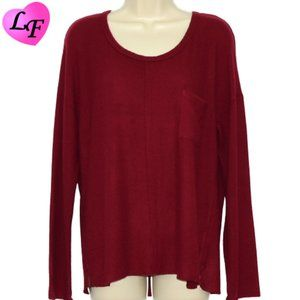 CASLON Long Sleeve Sweater Super Soft Wine Red MP